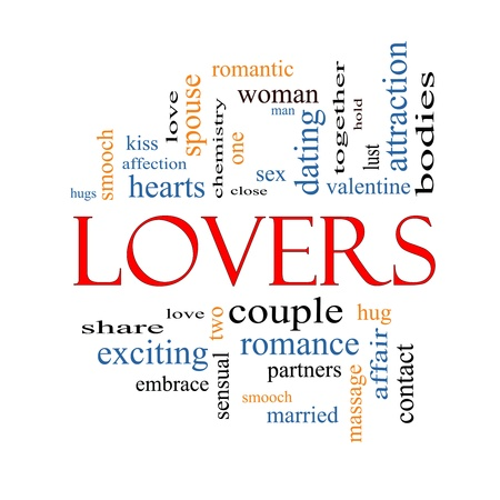 Lovers Word Cloud Concept with great terms such as smooch, sensual, chemistry, sex, lust and more. Stock Photo - 17602006