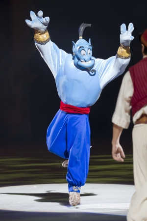 GREEN BAY, WI - MARCH 10:  Genie on skates from Aladdin at the Disney on Ice Treasure Trove show at the Resch Center on March 10, 2012 in Green Bay, Wisconsin.