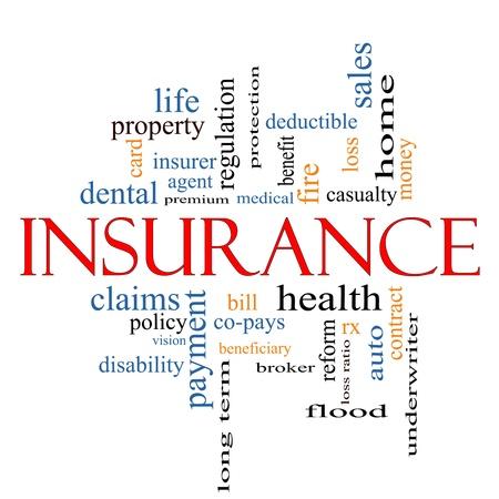 醫療保健: 偉大的條款,如多的保險字雲概念。 版權商用圖片
