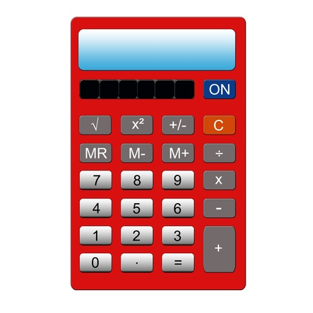 functions: An imitation red calculator with the normal key pad and memory functions