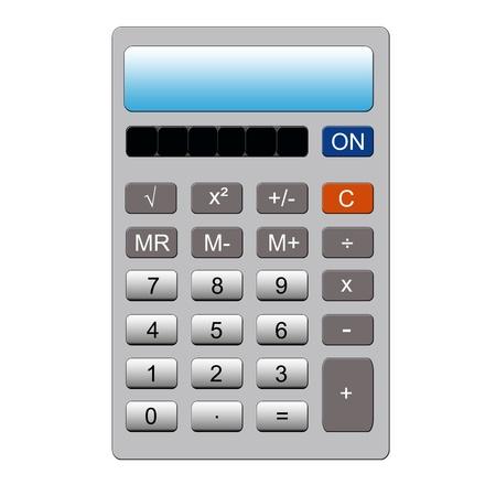 通常のキー パッドとメモリ機能と模造銀電卓
