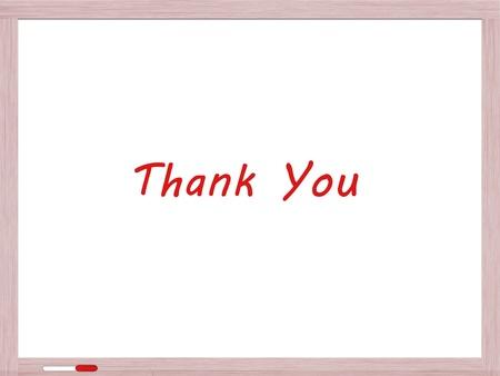 Dank u geschreven op Dry Erase Board in het rood marker Stockfoto