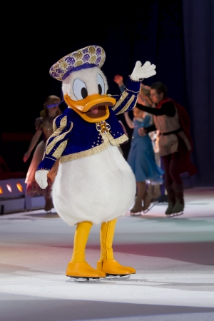 GREEN BAY, WI - MARCH 10: Donald Duck on skates at the Disney on Ice Treasure Trove show at the Resch Center on March 10, 2012 in Green Bay, Wisconsin.