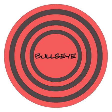 素晴らしいコンセプトを作る赤と黒の円の中央に書かれたブルズアイ