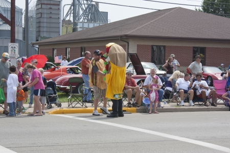 SEYMOUR, WI - AUGUST 4:  Subway Sub in parade at the Annual Hamburger Festival Parade on August 4, 2012 in Seymour, Wisconsin. Editorial