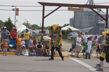 SEYMOUR, WI - AUGUST 4:  Subway Sub marching in parade at the Annual Hamburger Festival Parade on August 4, 2012 in Seymour, Wisconsin.