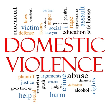 Domestic Violence Word Cloud Concept with great terms such as victim, assault, judge, harm, social, education and more. Stock Photo - 19508353