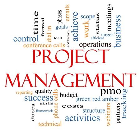 Project Management notion nuage avec des termes tels que CPM, le plomb, les buts, les affaires, les réunions et plus encore. Banque d'images - 20771996
