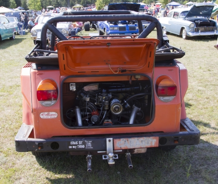 WAUPACA, WI - AUGUST 24:  Back of 1974 Volkswagen Thing Car at Waupaca Rod and Classic Car Show August 24, 2013 in Waupaca, Wisconsin.