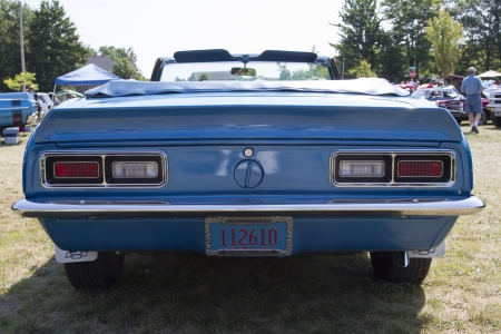 WAUPACA, WI - AUGUST 24:  Back of 1968 Chevy Camaro Car at Waupaca Rod and Classic Annual Car Show August 24, 2013 in Waupaca, Wisconsin.