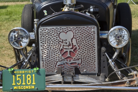 WAUPACA, WI - AUGUST 24:  Grill of 1927 Ford Model T Car at Waupaca Rod and Classic Annual Car Show August 24, 2013 in Waupaca, Wisconsin.