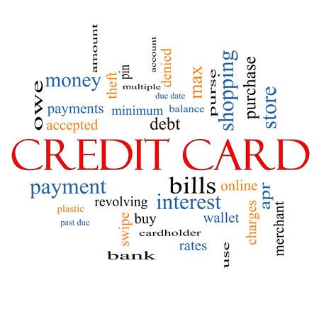 이러한 부채, 균형,이자, 비용 등과 같은 좋은 조건의 신용 카드 단어 구름 개념입니다. 스톡 콘텐츠 - 24547061