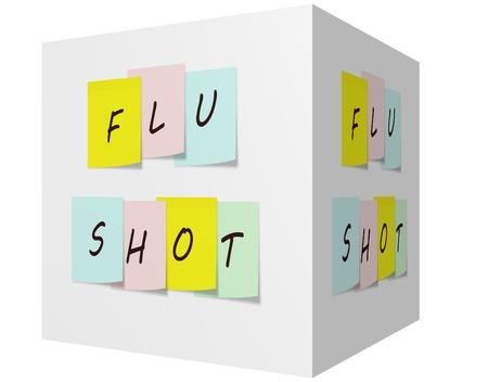 독감 위대한주의 개념을 만드는 3D 큐브에 다채로운 스티커 메모에 쐈 어.