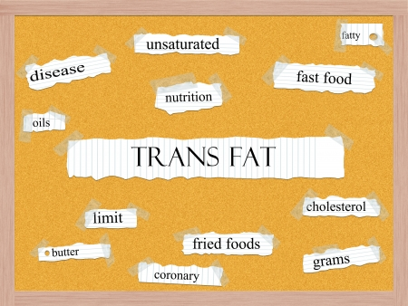 grams: Trans Fat Corkboard Word Concept with great terms such as fatty, oils, grams and more.