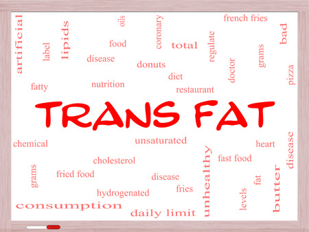 grams: Trans Fat Word Cloud Concept on a Whiteboard with great terms such as grams, diet, unsaturated and more.