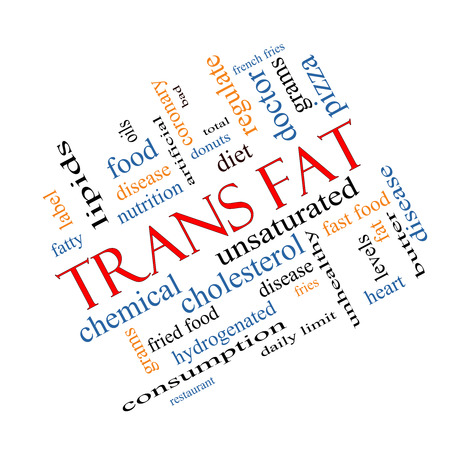grams: Trans Fat Word Cloud Concept Angled with great terms such as grams, diet, unsaturated and more.