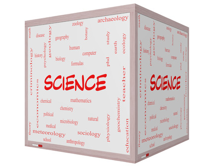 economic botany: Science Word Cloud Concept on a 3D Cube Whiteboard with great terms such as biology, earth, ecology, natural and more.
