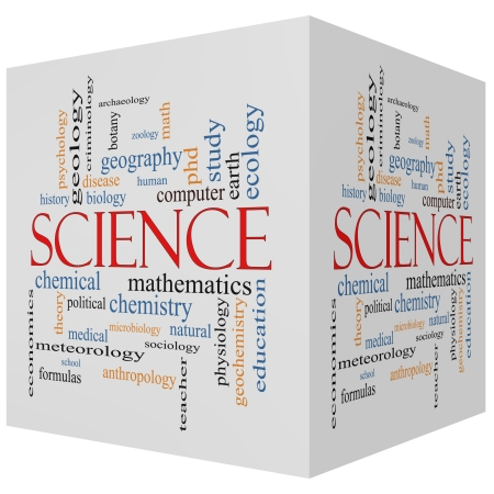 economic theory: Science 3D Cube Word Cloud Concept with great terms such as biology, earth, ecology, natural and more.
