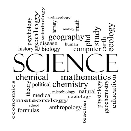 economic botany: Science Word Cloud Concept in black and white with great terms such as biology, earth, ecology, natural and more.