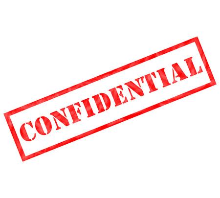 레드 기밀 사용 또는 기밀 개념에 대한 준비가 스탬프를 풍 화. 스톡 콘텐츠