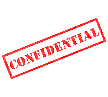 Red Confidential weathered stamp ready for use or for a confidential concept.