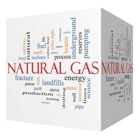 천연 가스의 3D와 같은 에너지, 전력, 매립 등과 같은 좋은 조건에 큐브 단어 구름 개념입니다. 스톡 콘텐츠 - 25183546