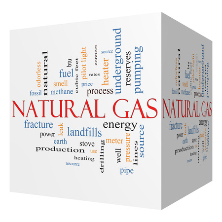 landfills: Natural Gas 3D cube Word Cloud Concept with great terms such as energy, power, landfill and more.