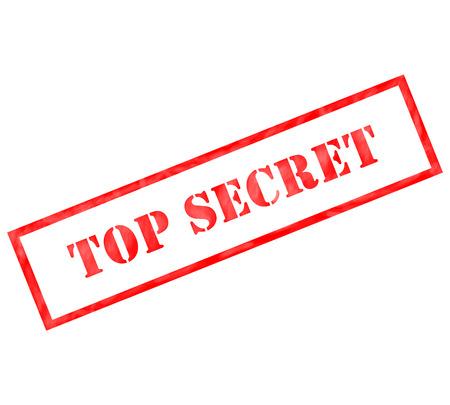 레드 톱 비밀을 사용하거나 기밀 개념 스탬프가 준비 풍화.