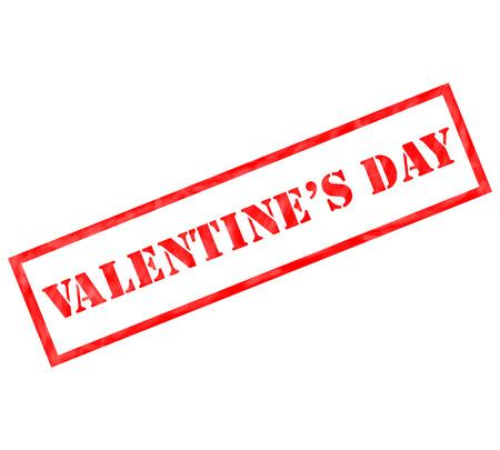 레드 발렌타인 데이 스탬프 풍 화 스탬프 사용 또는 휴가 개념에 대 한 준비.