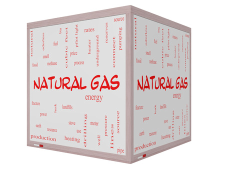 stove pipe: Natural Gas Word Cloud Concept on a 3D cube Whiteboard with great terms such as energy, power, landfill and more.