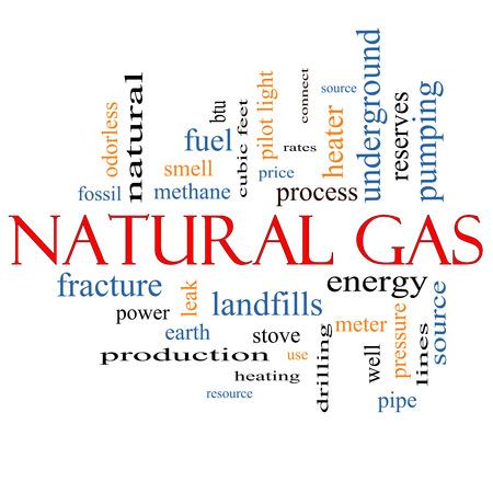 이러한 에너지, 전력, 매립 등과 같은 좋은 조건에 천연 가스 단어 구름 개념입니다. 스톡 콘텐츠 - 25199555