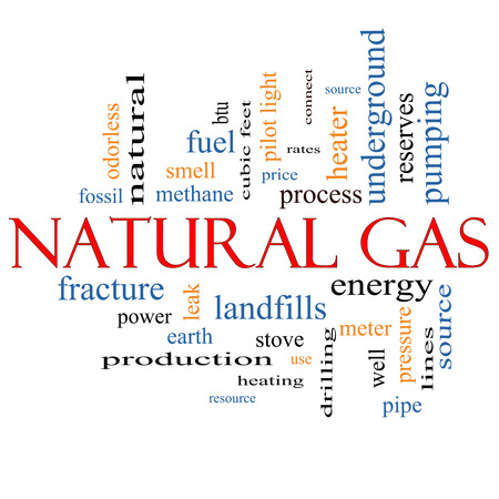 Natural Gas Word Cloud Concept with great terms such as energy, power, landfill and more. photo