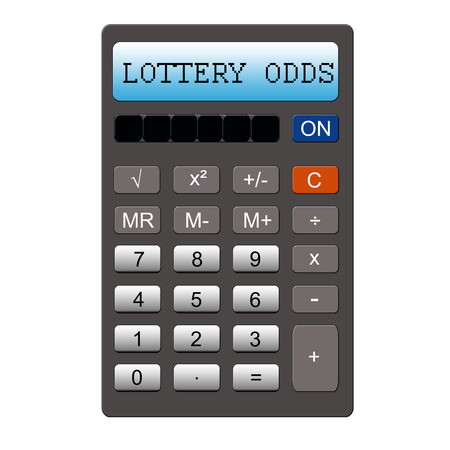 An imitation calculator with the words Lottery Odds making a great concept.