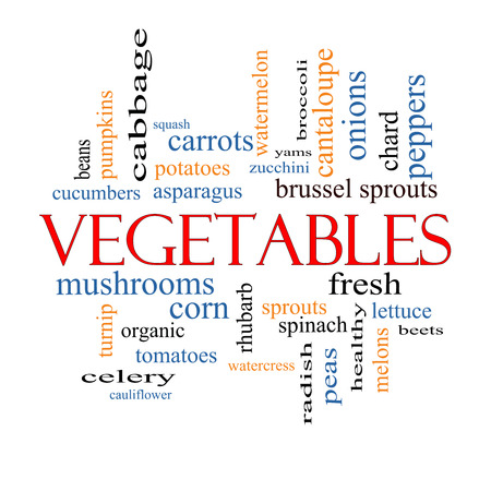 Vegetables Word Cloud Concept with great terms such as lettuce, beets, corn and more. photo