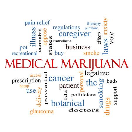 hanf: Medical Marijuana Word Wolke Konzept mit großen Begriffen wie Therapie, legalisieren, Patienten und mehr. Lizenzfreie Bilder