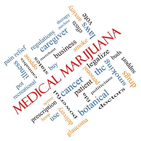 의료 마리화나 단어 구름 개념은 환자와 더 많은, 합법화, 이러한 치료로 좋은 조건에 각도. 스톡 콘텐츠