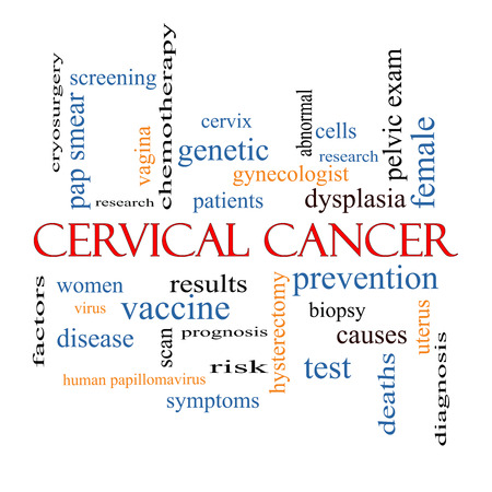 female vagina: Cervical Cancer Word Cloud Concept with great terms such as prevention, women, virus and more.