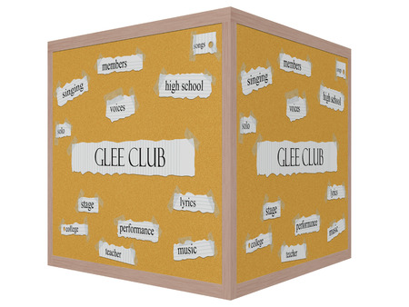 Corkboard 3D cube Word Concept with great terms such as and more.