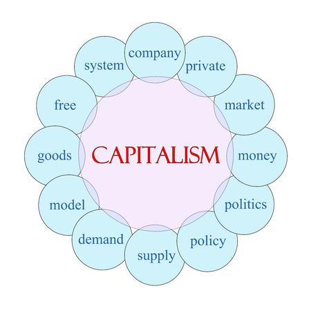 자본주의 개념 핑크, 블루, 돈, 시장, 무료 등 훌륭한 조건에서 파란색 원형 다이어그램.