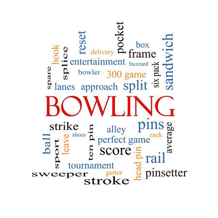 splice: Bowling Word Cloud Concept with great terms such as frame, strike, ball and more.
