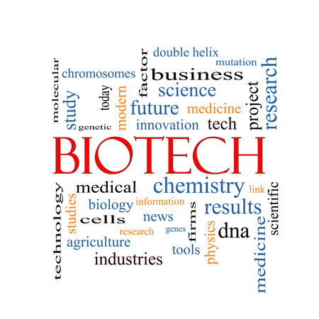 Biotech Word Cloud Concept with great terms such as medical, technolgy, dna and more. photo
