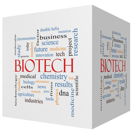 technolgy: Biotech 3D cube Word Cloud Concept with great terms such as medical, technolgy, dna and more.