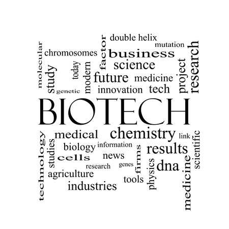 technolgy: Biotech Word Cloud Concept in black and white with great terms such as medical, technolgy, dna and more.