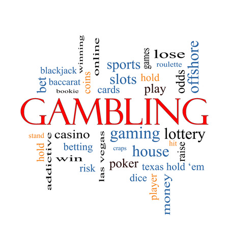 Gambling Word Cloud Concept with great terms such as winning, odds, casino and more.