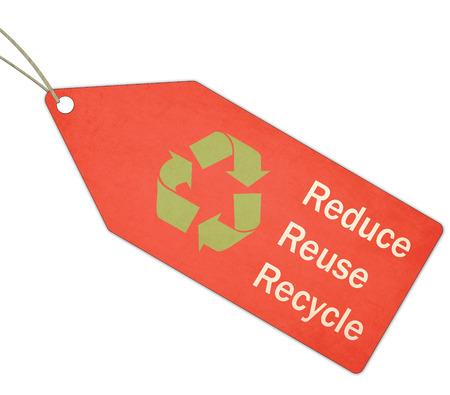 reduce reutiliza recicla: A textura de color rojo, verde y blanco Reduzca la reutilizaci�n reciclan Red Tag y Cadena haciendo un gran concepto. Foto de archivo