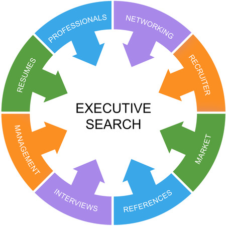 executive search: Executive Search Word Circle Concept with great terms such as networking, market, resumes and more. Stock Photo