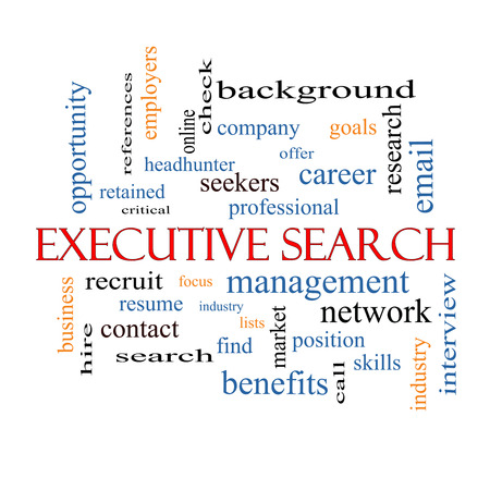 retained: Búsqueda de Ejecutivos Palabra Nube Concepto con los términos de la gestión, reclutador, carrera y mucho más.