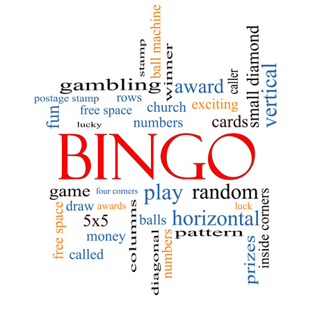 maching: Bingo Word Cloud Concept with great terms such as numbers, balls, prizes and more.