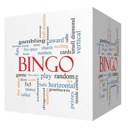 maching: Bingo 3D cube Word Cloud Concept with great terms such as numbers, balls, prizes and more.