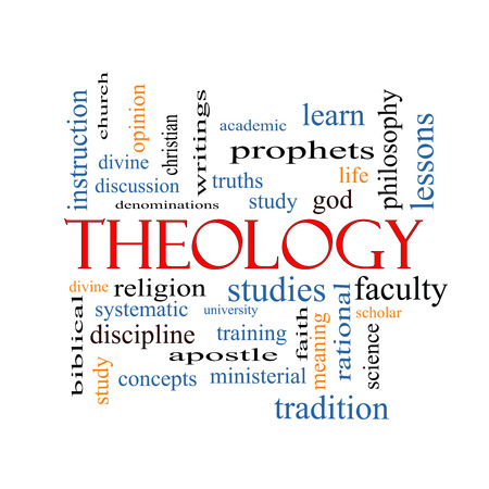 theology: Theology Word Cloud Concept with great terms such as study, religion, God and more.